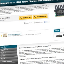 Corsair Product Page - Groove Redesign 2011