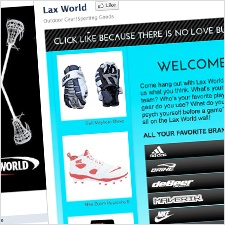 LaxWorld.com Facebook Welcome - Groove Design 2011