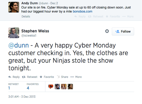 Bonobos' Customer Cyber Monday Success Story