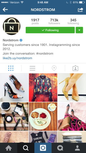 Social commerce platform Like2Buy Monetizes Instagram - Nordstrom's Like2Buy Page