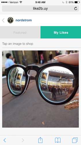 Social commerce platform Like2Buy Monetizes Instagram - Nordstrom's MyLikes page