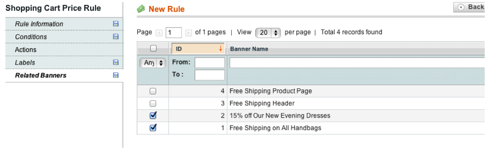 Magento Related Banners