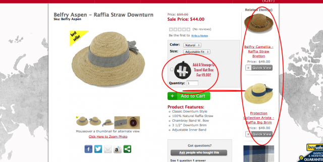 Hats in the Belfry ecommerce merchandising screenshot